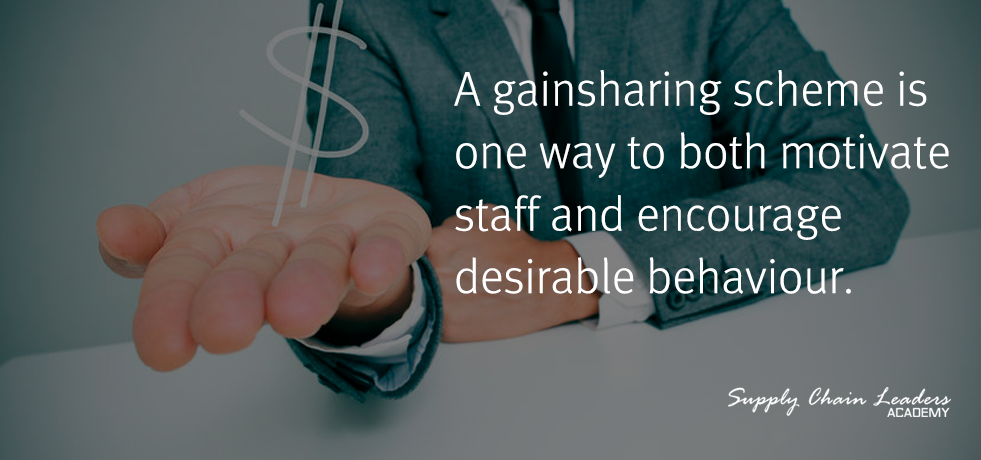 Gainsharing scheme to motivate workers