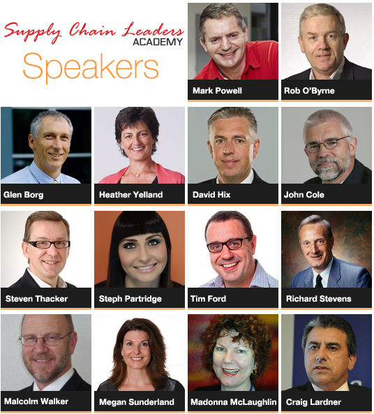Supply Chain Leader Academy Speakers List